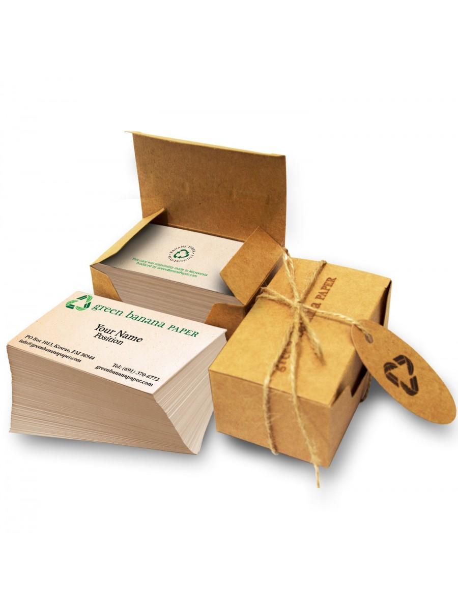 Handmade banana paper business cards
